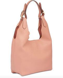 DKNY WES HOBO Coral Medium Shoulder Bag Tote Handbag Purse Pebbled Leather $298