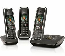 Gigaset C530A Trio Cordless Home Phone with Answer Machine Loudspeaker 3 Handset