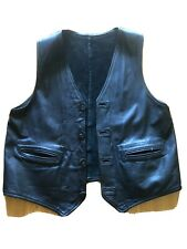 1940's Decommissioned Buckskin Motorcycle Club Vest Size Large