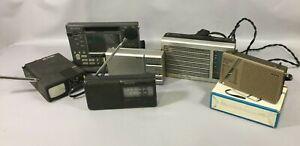 Lot 5 RADIOS Portables Lecteurs Cassettes Enregistreur SONY ICF-7600D Grundig G