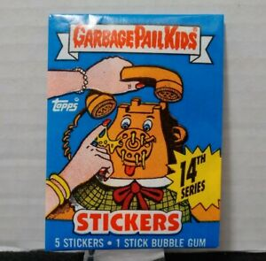 1988 Garbage Pail Kids GPK Original Series 14 OS14 COMPLETE SET & Wrapper