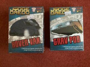 Judge Dredd Miniatures Game Hover Van & Grav Pod