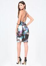BEBE ADRIANA DOUBLE STRAP PRINT DRESS NWT NEW $139 XSMALL XS