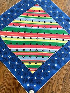 🏞 Vintage UNUSED Handkerchief with a GEOMETRIC design CAROL STANLEY label