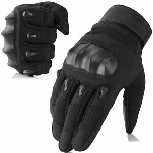Touch Screen Tactical Motorcycle Cycling Riding Full Finger Gloves Moto Driving