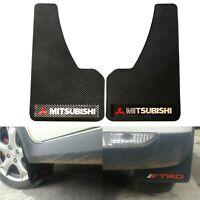 2PCS Universal Mitsubishi Power 3D C.FIBER Car Mudflaps Mud Guard Fender