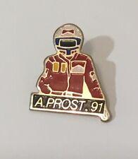 Alain Prost 1991 Formula 1 F1 Lapel Badge Tie Free 🇬🇧P&P