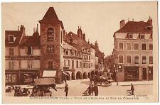 CPA 39 - LONS LE SAUNIER (Jura) - Tour de l'Horloge et rue du Commerce - LL