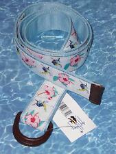 Guy Harvey Sailfish Hibiscus Floral Canvas Women Belt Size S M New