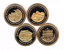 ILES SALOMON.4 MONNAIES de 5 DOLLARS OR 2011.585 ‰ ø 11 mm 0,50 grs BE K12048