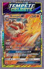 Braségali GX - SL07:Tempête Celeste - 28/168 -Carte Pokemon Neuve Française