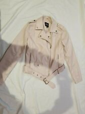 Urban Retro Biker Moto Jacket Womens Sz S pale pink beautiful! In good condition
