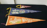 Washington DC Monuments Souvenir Pennant Vintage Felt Flags Lot Bundle of 3