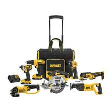 DEWALT 7-Tool 20-volt Max Power Tool Combo Kit with Soft Rolling Case
