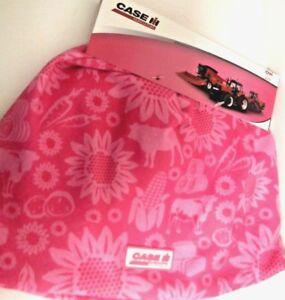 Case IH Youth Pink Farm Pattern Youth Beanie