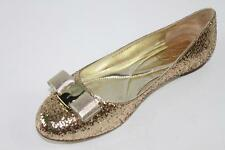 AUTH Salvatore Ferragamo Women Varina Glitter Ballet Flat Shoes 8B