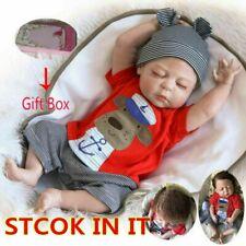Bambole realistici neonato realistica vinile in silicone Boy Doll Natale Regali