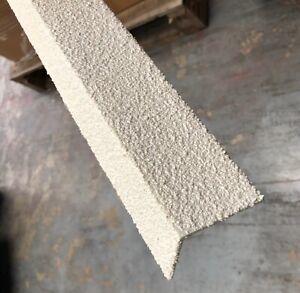 STAIR TREAD NOSING - 55mm X 55mm WHITE ANTI-SLIP HARD WEARING GRP