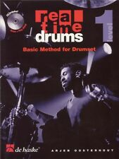 Arjen Oosterhout Real Time Drums 1 /CD Dutch Play Drums SHEET MUSIC BOOK & CD
