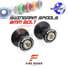 Black CNC Swingarm Spools 8MM 2pcs For Suzuki GSX-S750 15-16 15 16