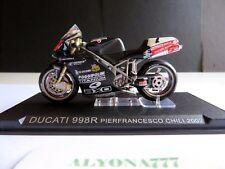 "1/24 Ixo Ducati 998R P. Chili 2002 MOTO Bike Motorcycle 1:24 Altaya / IXO ""RARE"""