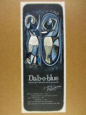 1955 Real-Form Dab-o-blue Girdle Garter GREAT fashion art vintage print Ad