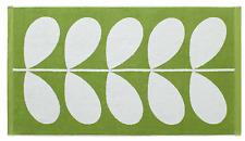"NWT Orla Kiely House Stem Jacquard Apple Green White Bath Towel 28"" x 50"" New"