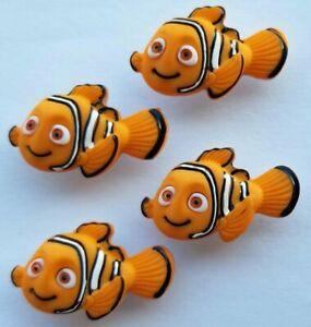 4 x NEMO - Disney Finding Nemo Orange Fish Clownfish Dress It Up Craft Buttons