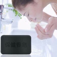 Hot Black Bamboo Charcoal Soap Face Body Clear Anti Bacterial Tourmaline Soap NG