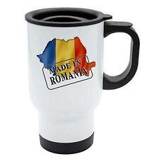 fabriqué en Roumanie Thermal tasse de voyage - Blanc acier inoxydable