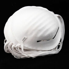 100 Disposable Face Masks Respirator Nuisance Dust Mask Cleaning Molded White