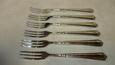 Antique Set Of 6 Silver Plated Fruit Forks - Thomas Turner & Co EP A1