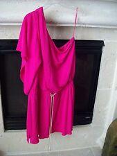 MILLY Pink Color One Shoulder Dress Size L