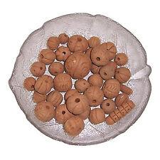 Tonperlen 30 Perlen Terrakotta Basteln Malen Kreativität Spielzeug Hobby Schmuck