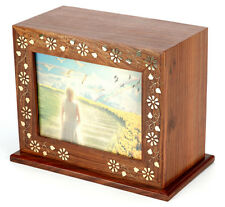 Cremation Ashes Urn /  Ashes Casket SOLID WOOD!!- Argyle 250 CI (UU110014A)