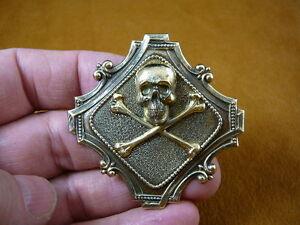 (#B-SKULL-27) Skull bones crossbones Pin pendant pirate skulls Roger pirates