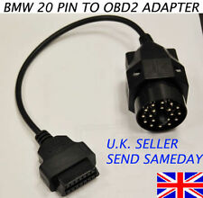 BMW 20 PIN TO 16 PIN FEMALE OBD2 BMW ADAPTOR DIAGNOSTIC SCANNER CABLE CONVERTER