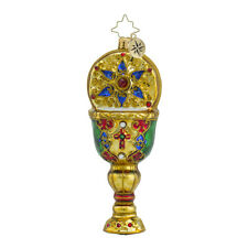 Christopher Radko - Chalise of Hope - Jeweled Gold Cup Ornament 1018550