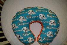 Boppy Pillow Cover M/W Miami Dolphins Fabric