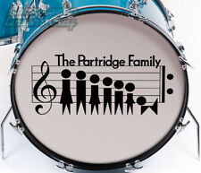 "Partridge Family Logo Repro, for Bass Drum, Proportioned for 20"" Head"