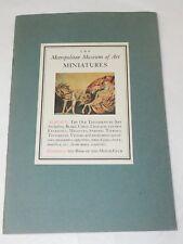 "The Metropolitan Museum of Arts MINIATURES Album ""G"" book & stamps 1949"