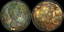 1966 CANADA 125TH ANNIV OF CANADA CONFEDERATION 10 CENTS HIGH QUALITY TONED COIN