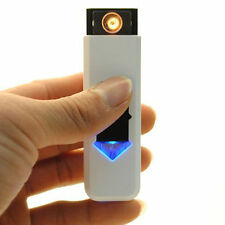 USB Electric Battery Rechargeable Flameless Collectible Lighter Cigarette FT