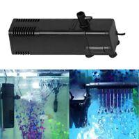 Useful Aquarium Filter Oxygen Submersible Water Pump Spray Fish Tank EU Plug