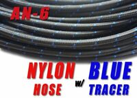10FT Black AN6 Nylon Stainless Steel Braided Fuel Oil Gas Line Hose USA Made