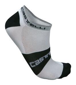 Castelli LOWBOY Low Cuff Cycling Socks : WHITE/BLACK One Pair
