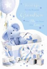 Thank You For Our Wonderful Grandson Congratulations Modern Baby Design New Card
