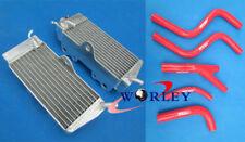 For Honda CR250R CR250 CR 250 R 1985 1986 1987 Aluminum Radiator & Hose RED