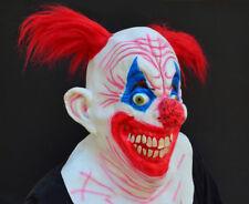 Creepy Evil Scary Halloween Clown Mask Rubber Latex CRAZY CLOWN