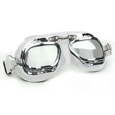 Halcyon Mark 410 White Leather Classic Goggles - For Motorcar Racing Enthusiasts